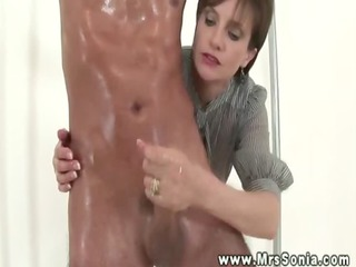 mistresse gives him a treat as she is acquires on