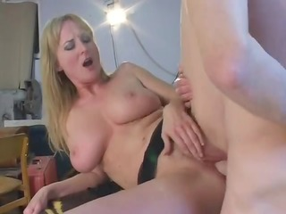 breasty mother i with bushy love tunnel fucked