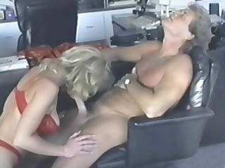 busty golden-haired kc williams eats his cock and