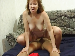 Assfucked granny has 13 loud anal orgasms