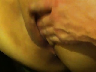 rubbing and fingerin the wifes obese pussy again!