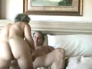 aged wife gets anal penetration and facial spunk