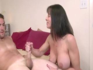 Busty Mature milf handjob and tit fucking