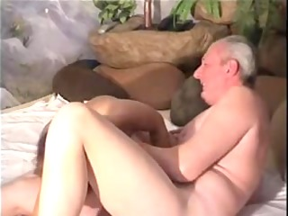 grand-dad receives laid
