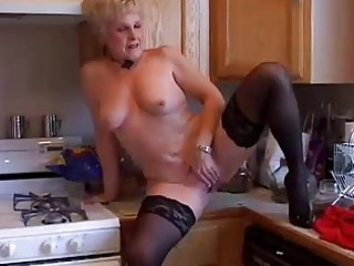 very sexy grandma has a soaking soaked vagina