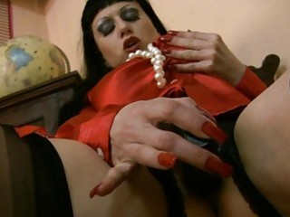 satiny stocking wearing mother i loves cumshots