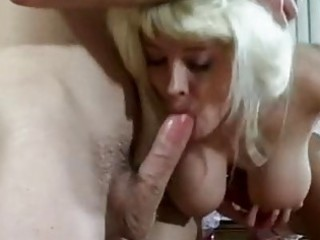 breasty milf candy cotton sucks on a giant