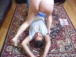 Mistress smothers an ass licker using her fat