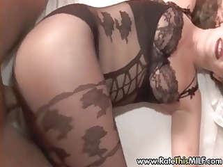 super hot mild in crotchless body nylons pov sex