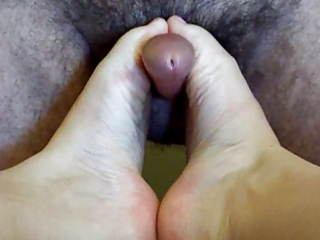 aged wife footjob and handjob