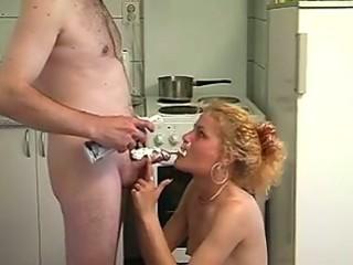 blonde mama drilled in kitchen in hawt amateur