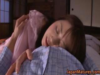 Horny japanese mature babes sucking part1