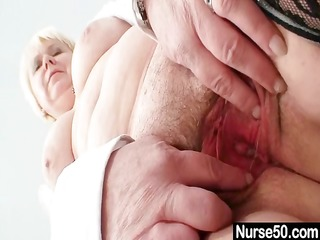 big mangos old lady in uniform fingers hairy pussy