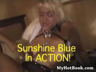 lascivious old golden-haired granny sunshine blue