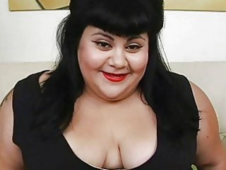 overweight black haired momma with tattoo