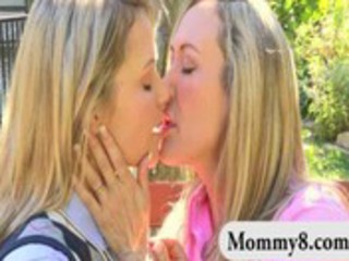 sexy aged mom and her daughter lesbo action and