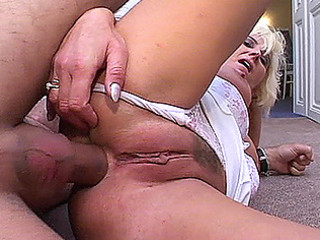 leering granny in wild porn