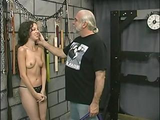 juvenile tattooed bdsm victim angel acquires her
