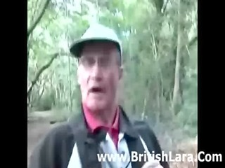 mature british woman picks up hiker and gets