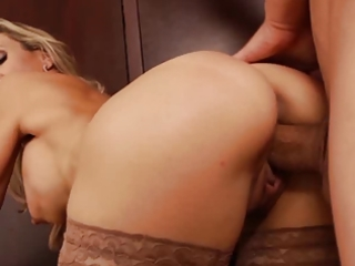 marvelous golden-haired d like to fuck teacher