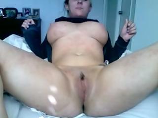breasty wife strips and masturbates