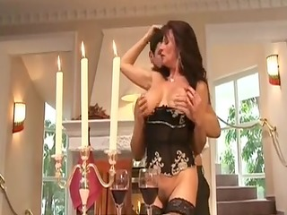 mature doxy group-fucked by rich guy