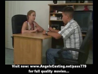 redhead cheerleader does irrumation for nerdy guy