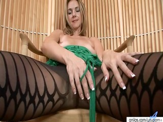 hawt mother i in hose undresses and masturbates