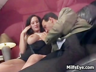 milf getting her constricted aperture stuffed good