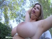 a sweet d like to fuck showing her large bouncy