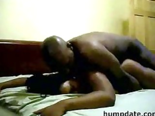 Bootylicious black MILF with big tits gets rammed