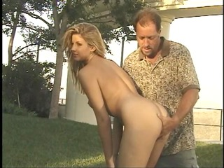 hot slut invites mature neighbor to fuck her