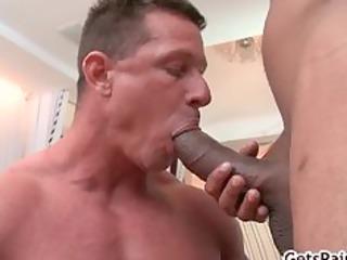 aged muscle lad engulfing black knob part9