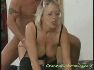 large tit granny threesome