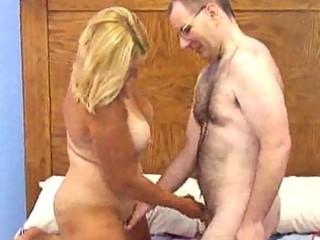 chesty aged fat blonde receives boned doggy style