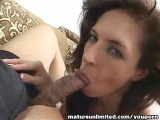 horny mama go for engulfing handjob blow job