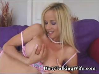 hot, blond d like to fuck plays with her merry