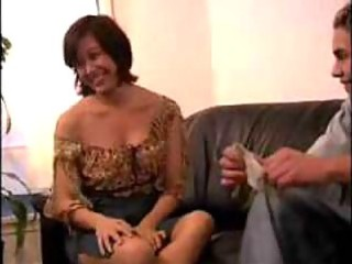 Shy mature woman gets her first big cocks