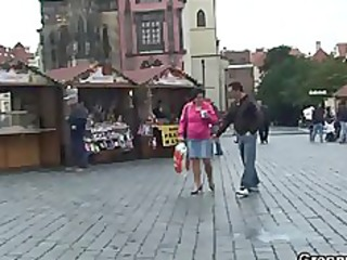 old tourist is picked up and fucked on floor