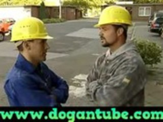 german mom screwed by construction workers -