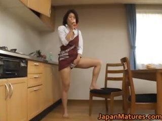 aged mio fujiki rides a sex