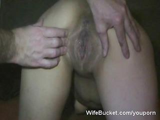 horny wife receives a big creampie