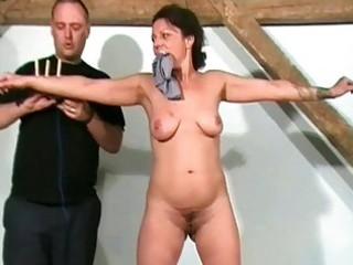 aged slaves sadistic workout and punishment