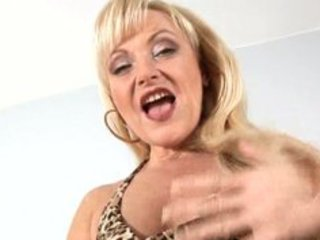 aged older blonde anal bead play