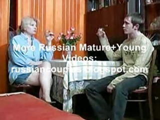 russian mommy and chap having a swallow