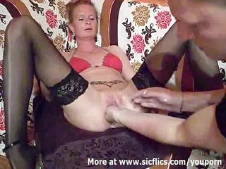fist fucking the wifes biggest muff till she is