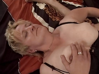 golden-haired granny fisted and fucked