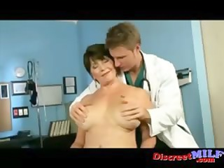 older cougar acquire drilled at the doctors office