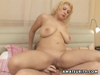 bulky non-professional wife fucking with facial