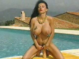 mature honey with massive pierced tits and